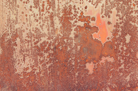Texture of red rust on metal