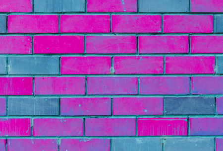 the texture of the walls of purple and blue bricks