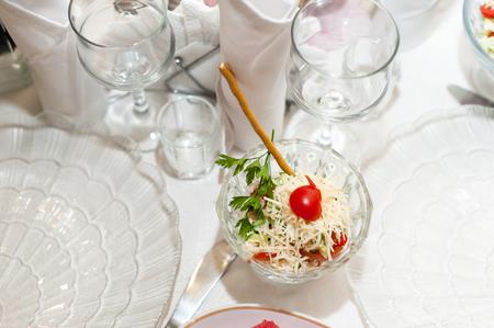 Caesar salad on a serving table Reklamní fotografie