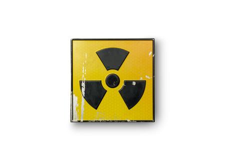 rentgen: radioactive sign on yellow background