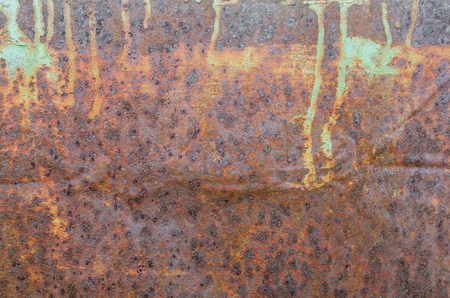 Texture of old rusty metal sheet