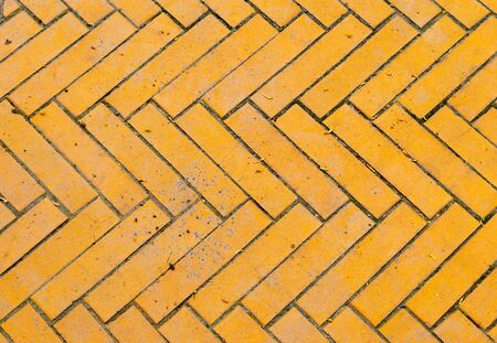 Fragment of an old yellow brick road