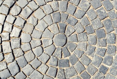 circular element of old pavement