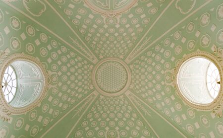 gothic high ceiling in the temple Stockfoto
