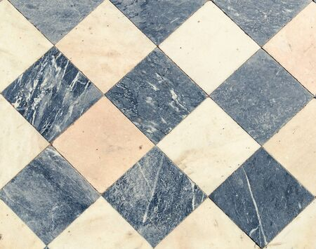 black and white wintage checkered Floor Tiles.