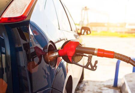 Car at the gas station Reklamní fotografie