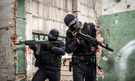 Fuerzas especiales rusas. Dos soldado Foto de archivo