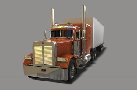 Big american truck 3d render 写真素材