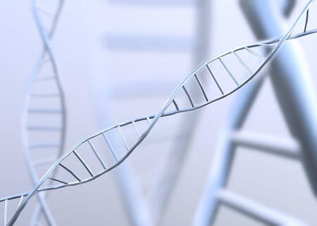 DNA molecule spiral.3D render Stock Photo