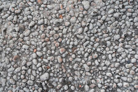 Expanded clay texture in concrete