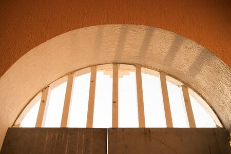 The arch grille light sunset Stock Photo