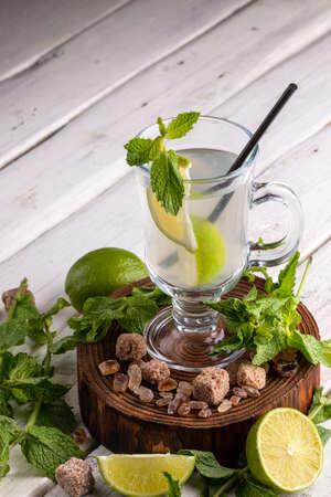 mojito non-alcoholic with mint