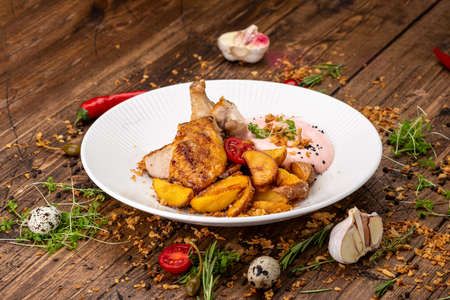 village potatoes with chicken