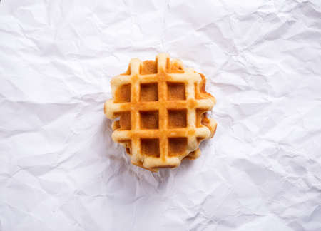 Viennese waffles on white paper