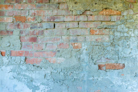 Turquiose broken brick wall texture