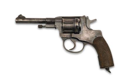 The revolver on white background