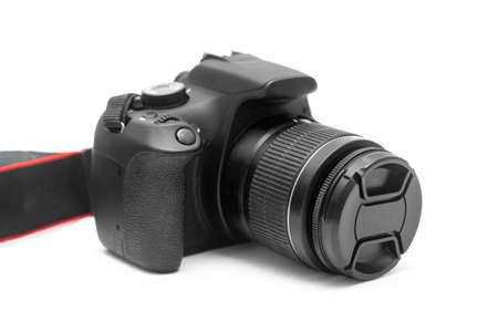Digital camera on white background Standard-Bild