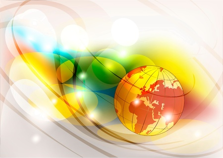 Globe on an abstract background Vector