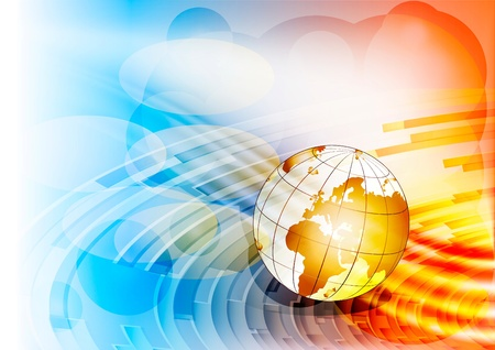 Globe on an abstract background