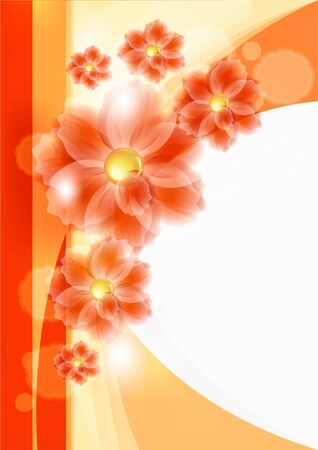 Flowers bright a background are more transparent Stock Vector - 10644620