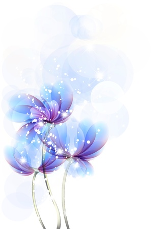 sheaf: Flores brillantes antecedentes son m�s transparentes Vectores