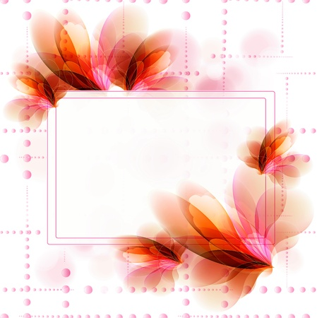 Flowers bright a background are more transparent Stock Vector - 11016263