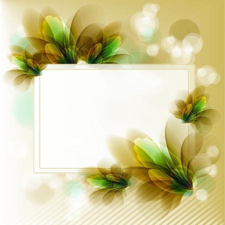 invito compleanno: Fiori luminosi uno sfondo sono pi� trasparenti Vettoriali