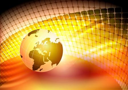 noyau: Globe sur un fond abstrait