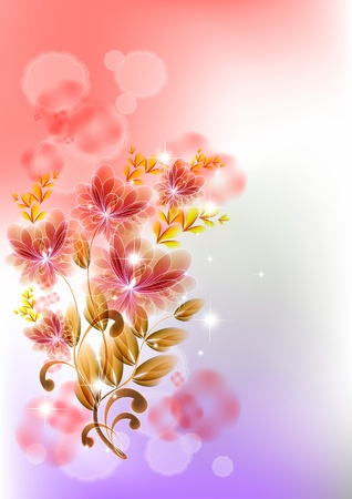 softly: Background with transparent easy colors.