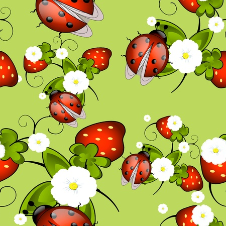 layout strawberry: decorative seamless pattern