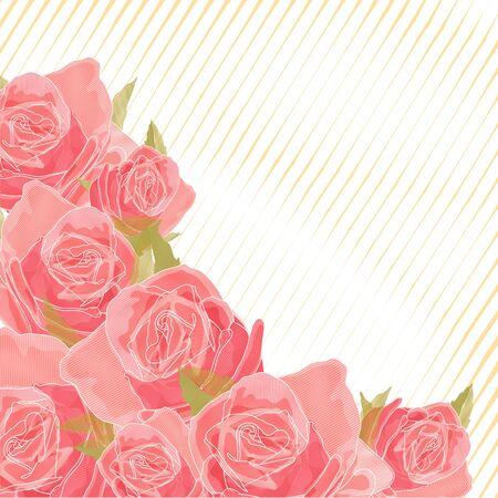 creative potential:  roses on a color background