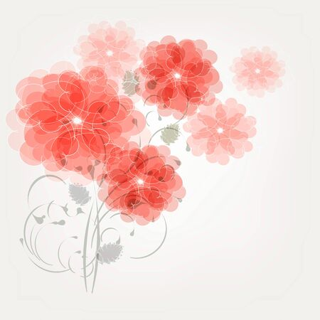 Flowers bright a background are more transparent Stock Vector - 11356335