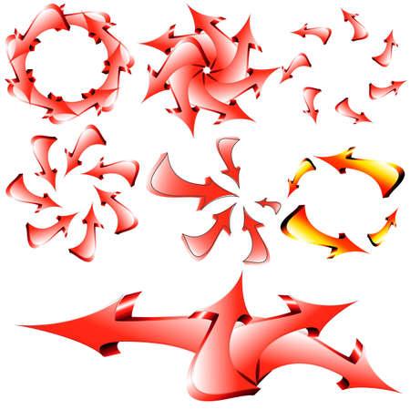 Arrows vector background Stock Vector - 11996279