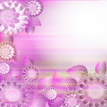 Flowers bright a background are more transparent Stock Vector - 12868617