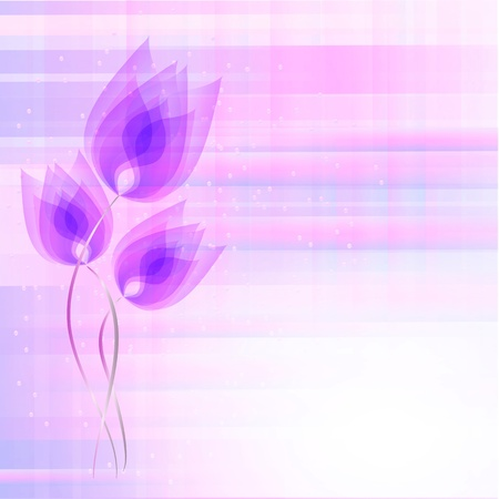 creative potential: Flowers bright a background are more transparent     Illustration