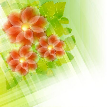 Flowers bright a background are more transparent Stock Vector - 12868648