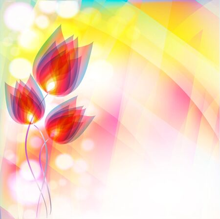 Flowers bright a background are more transparent     Stock Vector - 12868635