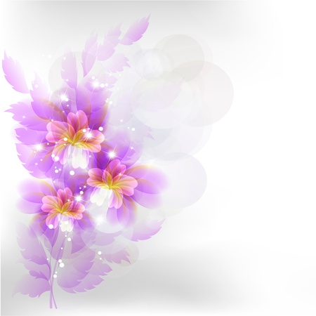 Flowers bright a background are more transparent Stock Vector - 13447062