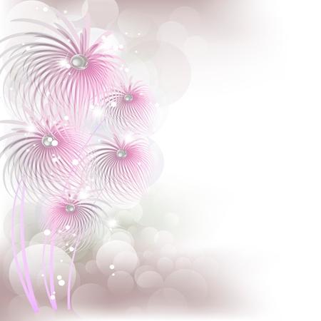 sheaf: Flores brillantes con un fondo son m�s transparentes Vectores