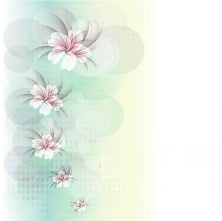 Flowers bright a background are more transparent Stock Vector - 13447055