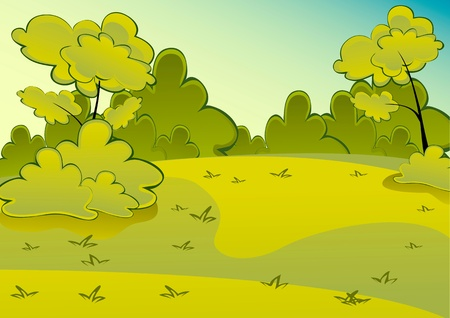 Sunny Meadow landscape Stock Vector - 13447053