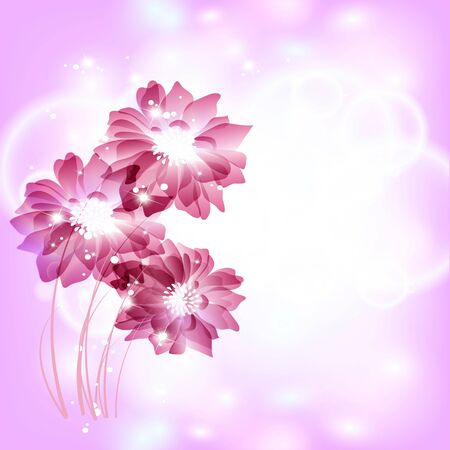 Flowers bright a background are more transparent Stock Vector - 13447074