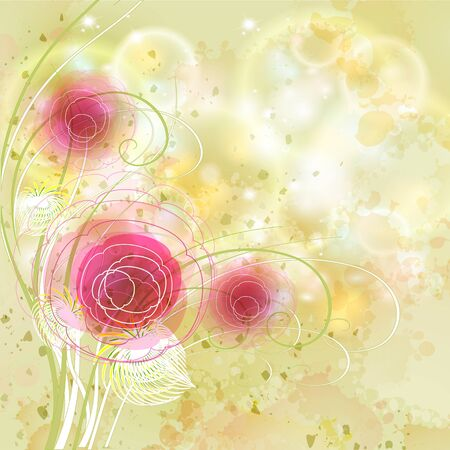 Flowers bright a background are more transparent Stock Vector - 13447080