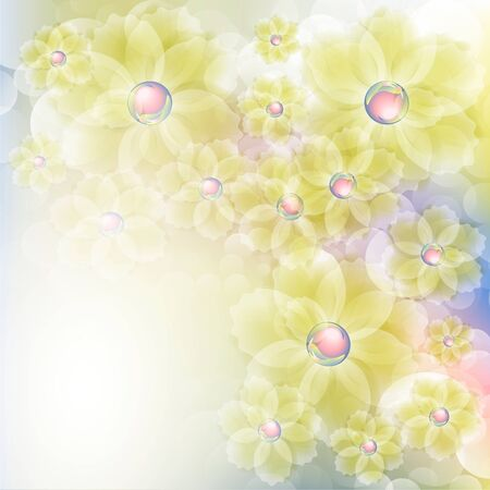 Flowers bright a background are more transparent Stock Vector - 14210224