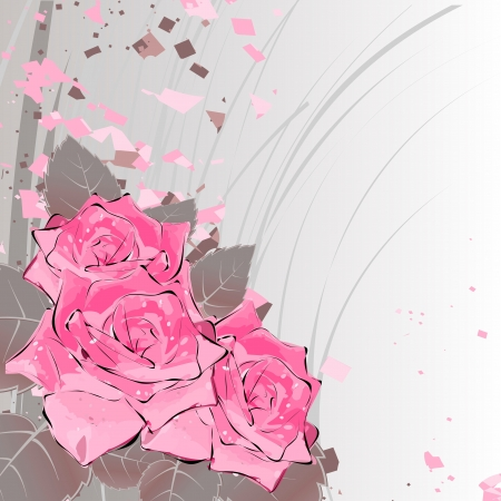 roses on a bright background Vector