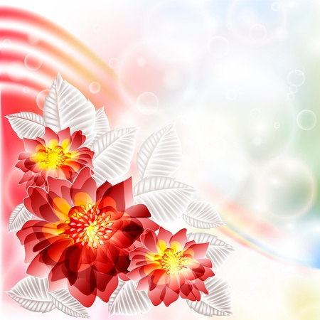Flowers bright a background are more transparent Stock Vector - 14210230