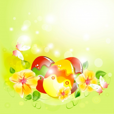 Traditional hand painted easter eggs Vector