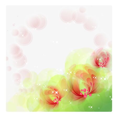 Flowers bright a background are more transparent Stock Vector - 15464838