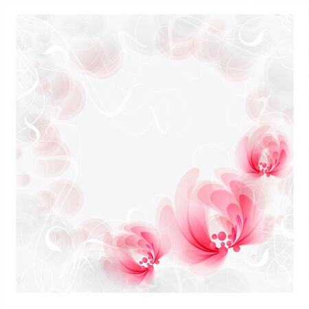 Flowers bright a background are more transparent Stock Vector - 15464831