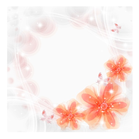 Flowers bright a background are more transparent Stock Vector - 15464837